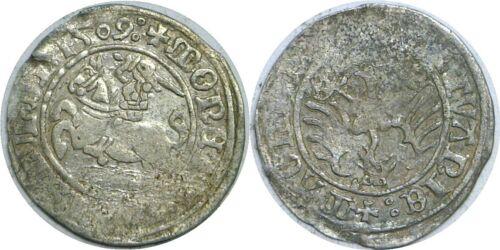 1509 Lithuania Sigismund I 1506-1548 Silver 1/2 Groschen