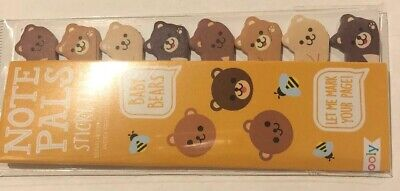 Ooly Note Pals Sticky Tabs Baby Bears New School Bookmark