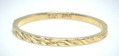 10KT PURE SOLID GOLD CHILDREN'S BAND RING .......
