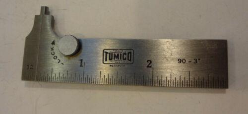 Vintage TUMICO #90-3, 3-Inch Steel Pocket Slide Caliper in Box