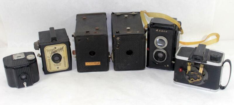 Vintage Lot of 6 Cameras ~ For Parts or Repair