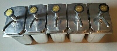 Vintage Antique Stainless Steal Soda Syrup Fountain Pumps Tank Vanilla Coffee