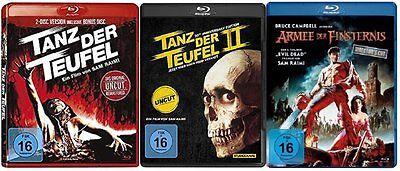 Evil Dead Uncut TANZ DER TEUFEL 1 2 3 Collection ARMEE DER FINSTERNIS 3 Blu-Ray