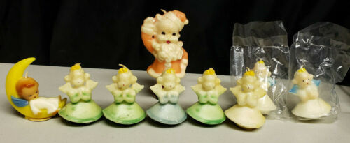 Vintage Gurley 8 Christmas Candles,Plus 2 Extra Angels