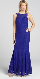 NEW - Elegant Laura's Royal Blue Mermaid Party Dress with TAG!!