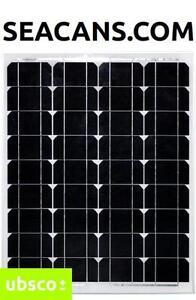 50W MONOCRYSTALLINE SOLAR PANEL SLIM PROFILE INCLUDES MC4 CONNECTORS
