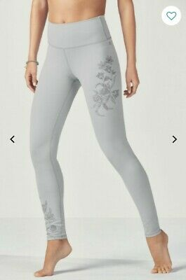 Fabletics High-Waisted Statement PowerHold LeggingsXXS Short Embroidered Floral