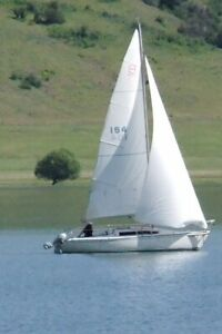 1995 Santana 2023R Sailboat, Motor, and Trailer
