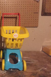 Reduced!! Colourful Like New Kids Shopping Cart for Sale!!