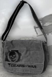 Gears-of-War-3-GREY-MESSENGER-BAG-Distressed-gray-omen-logo-NECA-GOW
