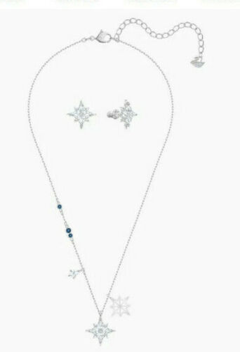 Swarovski Symbolic Star Necklace and Earring Set 5517182 NIB