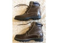 M&S Men's Brown Leather Boots