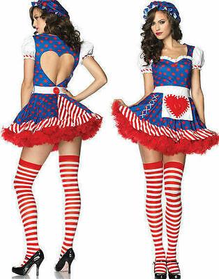 NEW USA Leg Avenue 83777 Darling Rag Doll Costume Cosplay Dress All - Leg Avenue Rag Doll Kostüm
