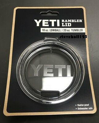 YETI Rambler Replacement Authentic Lid 20 oz. Tumbler / 10 oz. Lowball  CLEAR