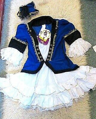 Hammer sexy 2tlg Kostüm Funkemariechen + Hut Piratin - Blau Pirat Kostüme