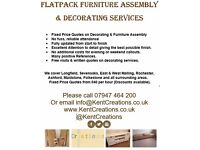 Flatpack Furniture Assembly & Decorating Services. Reliable Service Folkestone Maidstone Ashford