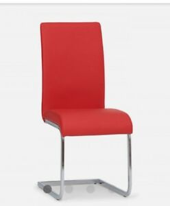 Set of 8 Boston red dining chairs from Structube