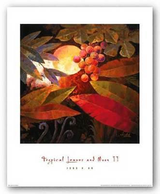 Jung Tropical Print - ART PRINT Tropical Leaves and Moon II Jung K An