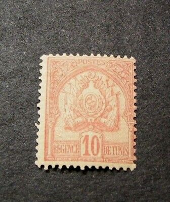 Tunisia Stamp Scott#  14 Coat of Arms 1901  MH C428