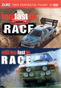Too Fast To Race 2DVD WRC Group B World Rally Cars Metro 6R4, RS200 NEW & SEALED