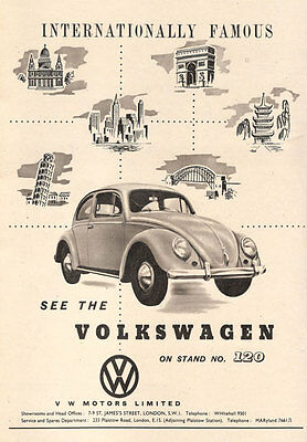 AD83 Vintage Volkswagon Beetle Car Advertisement Poster Print A4