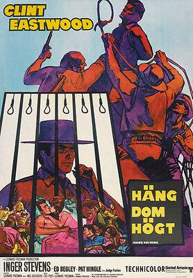 Hang Em High  1968   Clint Eastwood Cult Movie Poster Print 2