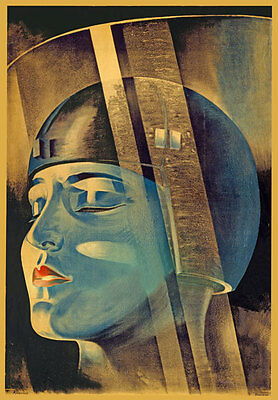F2 Vintage Fritz Lang's Film 1926 Metropolis Movie Art Poster Re-Print A4
