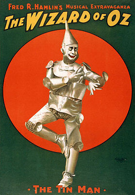 TZ34 Vintage Wizard Of Oz Tin Man Musical Theatre Poster Re-Print A4