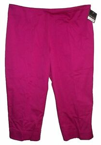 Pink Stretch Capris - Plus Size 20 - NEW