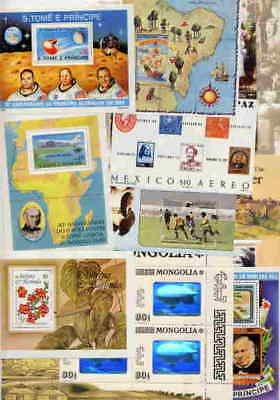 MAGNIFICENT COLLECTION OF STAMP  SOUVENIR SHEETS - $200 VALUE!