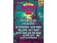 2-4-1!!!! 2 x Elrow Halloween Haunted House Tickets