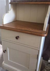 Laura Ashley part painted oak bedside cabinet