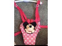 Baby Girls Pink Minnie Mouse Door Bouncer