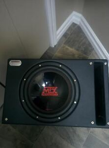 "600 Watt Kenwood Amp and 12"" MTX Audio Subwoofer"