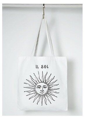 Eco Bag Canvas Bag Cotton Bag, El Sol Summer Bag Printed Bag Sunny Bag