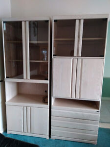 Wall Units  /  Display Cabinets ( Two Available )