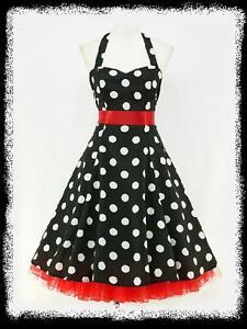 dress190-CHIFFON-BLACK-POLKA-DOT-50s-PINUP-ROCKABILLY-SWING-PROM-DRESS-UK-8-26