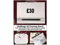 Challenge A3 Drawing Board - cross-wire parallel motion pulley system plus free extras