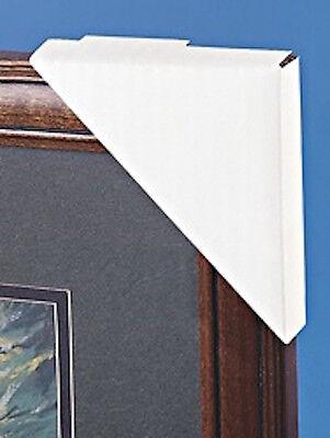 "❤️24 pc SET Corner Frame Protectors Corrugated Cardboard  4x 4""x 1"" White Uline"