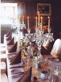 Candelabras glass x 5 RRP £2750.00