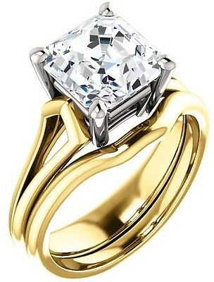GIA 1 ct Asscher Cut Diamond Engagement Solitaire 14k Yellow Gold Ring I VS1