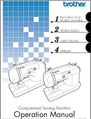 Brother CS6000i Sewing Machine Instruction Manual Users Guide PDF on CD Brother Sewing Machine User Manual