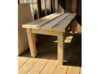new table hand made in scaffolding boards