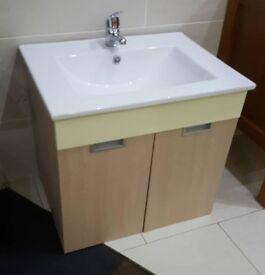 Bathroom Cabinets Gumtree 660mm grey floor standing basin bathroom vanity unit furniture