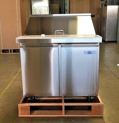 New 36 Commercial Mega Top Refrigerator Model Sclm2-36 Nsf Sandwich Salad Etc