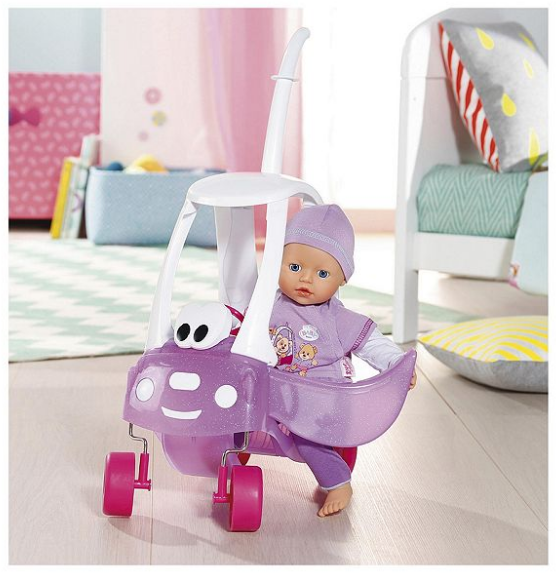 ab96eeaefc4 Details about My Little Baby Born Super Soft Doll in Cozy Coupe Zapf  Creation