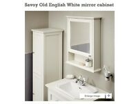 Bathstore Savoy Old english white mirrored Cabinet.