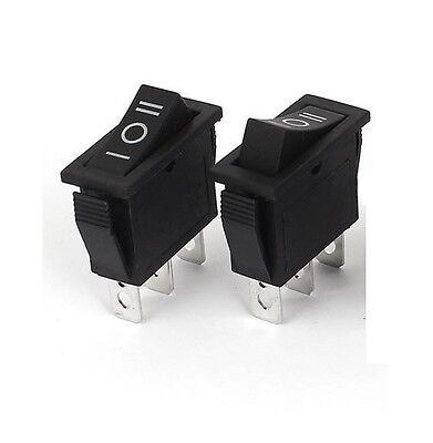 5pcs Black 3pin On-off-on 3 Position Rocker Switch 15a250v 20a125v Spdt