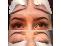 Full set of individual eyelash extensions