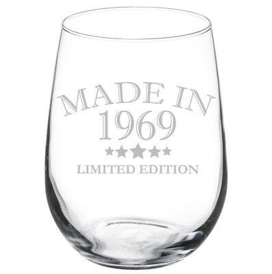 Made In 1969 50th Birthday Stemmed / Stemless Wine - 50th Birthday Wine Glass